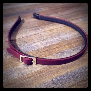 Accessories - Purple Faux Leather Hair Band with Buckle Detail